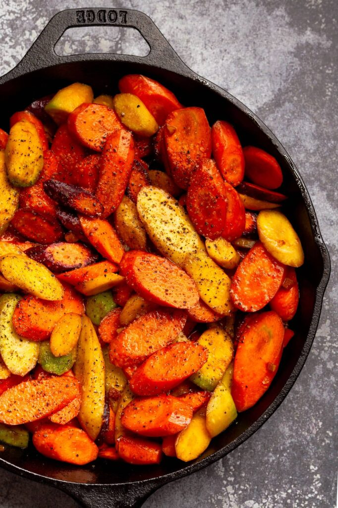 Geröstete Karotten mit Miso-Glasur | Genussfreude.at